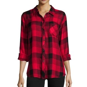 Rails Red Plaid Hunter Shirt Size L